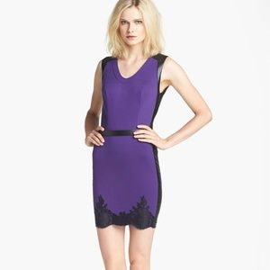 NEW ROBERT RODRIGUEZ Lace Hem Sheath Dress